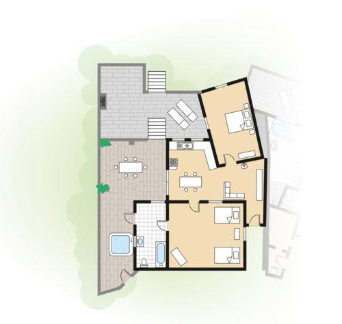 Grundriss Ferienhaus Casa Bela Vista I Azoren